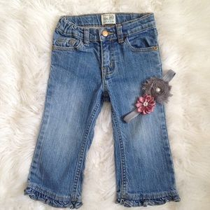 5/$25🎀The Children's Place ruffle flare jeans